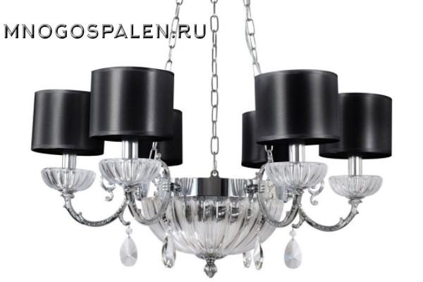Люстра Crystal lux Carino SP6+3 CHROME купить в салоне-студии мебели Барселона mnogospalen.ru много спален мебель Италии классические современные