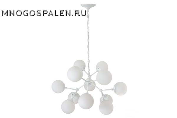 Люстра Crystal lux MEDEA WHITE SP12 купить в салоне-студии мебели Барселона mnogospalen.ru много спален мебель Италии классические современные