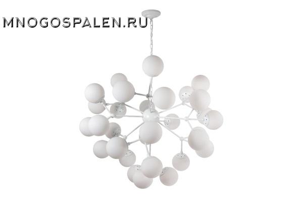 Подвесная люстра Crystal Lux Medea MEDEA WHITE SP30 купить в салоне-студии мебели Барселона mnogospalen.ru много спален мебель Италии классические современные