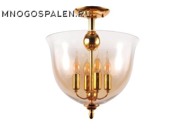 Люстра потолочная Crystal Lux Атлас ATLAS PL4 GOLD купить в салоне-студии мебели Барселона mnogospalen.ru много спален мебель Италии классические современные