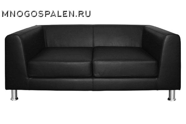 Дизайнерский диван Eva 2-местный черная кожа купить в салоне-студии мебели Барселона mnogospalen.ru много спален мебель Италии классические современные