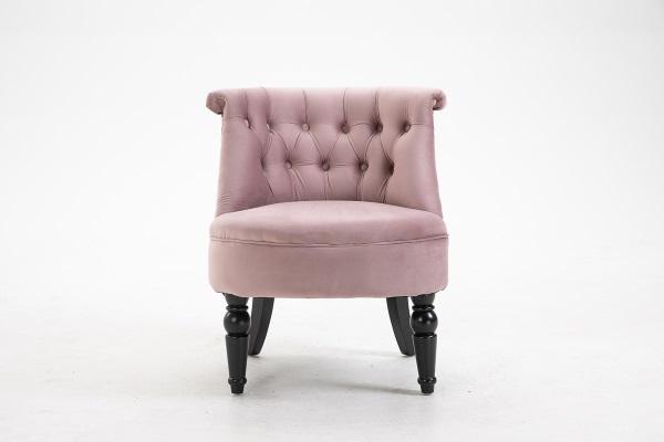 Кресло низкое дымчато-розовое велюровое купить в салоне-студии мебели Барселона mnogospalen.ru много спален мебель Италии классические современные